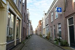 Город Алкмара ландшафта Голландии Стоковая Фотография