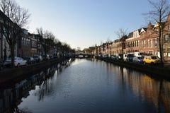 Город Алкмара ландшафта Голландии Стоковое Изображение