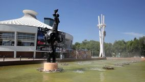 Город Алма-Аты сток-видео