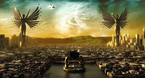 город ангелов иллюстрация штока