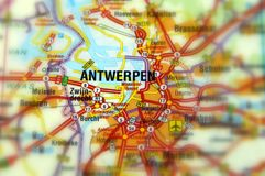 Город Антверпена - Бельгии Стоковое фото RF