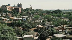 Город Асунсьон, прописной и самый большой город Парагвая сток-видео