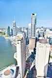 Город Брисбена, Квинсленд, Австралия показывал взгляд высокого угла стоковое фото rf