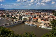 Город Будапешта сверху Стоковое Изображение