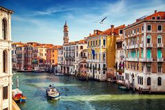Город Венеции на лете Италия, европа стоковая фотография rf