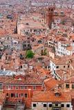 Город Венеции от колокольни колокольни Стоковые Изображения RF