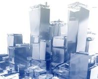 город взрывая Стоковая Фотография RF