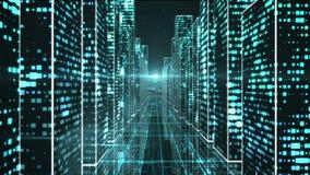 Город в космосе цифров бесплатная иллюстрация