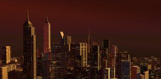 Город в утре Стоковая Фотография RF