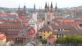 Город в федеральной Баварии земли rzburg w Германии акции видеоматериалы