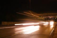Город Гамбурга большой освещает горизонт искусства шарика движения стоковое фото