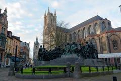 Город Гента в Бельгии Стоковые Фотографии RF