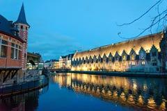 Город Гента в Бельгии стоковое фото rf