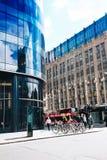 Город Глазго, улицы с людьми и туристы идя, 01 08 2017 Стоковая Фотография RF