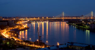 город горит ночу Стоковая Фотография RF