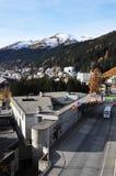 Город Давос, центр конгресса, форум Мировое, швейцарец Альпы | Стоковые Фотографии RF