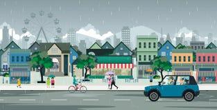 Город дождя бесплатная иллюстрация