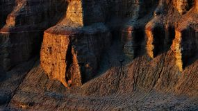 Город дьявола в Синьцзян стоковая фотография
