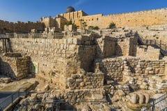 Город Дэвида, Иерусалима, Израиля Археологическое место старого Стоковое Фото