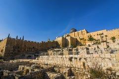 Город Дэвида, Иерусалима, Израиля Археологическое место старого Стоковые Изображения RF