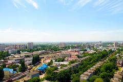 Город железнодорожного вокзала Краснодар стоковые фото