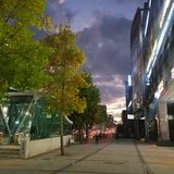 Город захода солнца Тэгу Кореи стоковые изображения rf