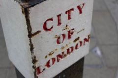 Город знака улицы Лондона Стоковое Фото