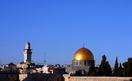 город Иерусалим старый Стоковые Фотографии RF