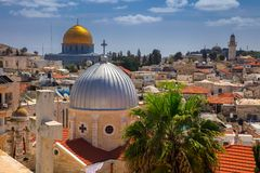город Иерусалим стоковое изображение