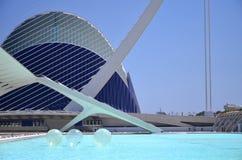 Город искусств и наук в Валенсия, Испании Стоковая Фотография