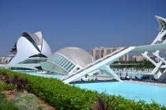 Город искусств и наук в Валенсия, Испании Стоковое Изображение