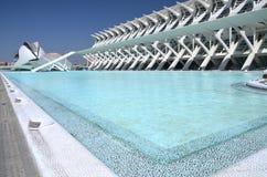 Город искусств и наук в Валенсия, Испании Стоковое Фото