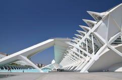 Город искусств и наук в Валенсия, Испании Стоковые Фото