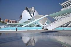 Город искусств и наук в Валенсия, Испании Стоковые Фотографии RF