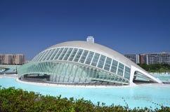 Город искусств и наук в Валенсия, Испании Стоковые Изображения