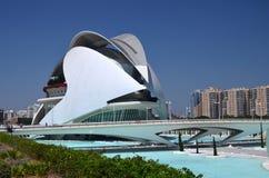 Город искусств и наук в Валенсия, Испании Стоковая Фотография RF