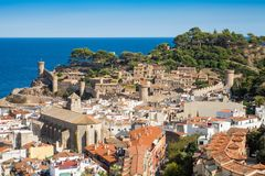 Город Испании Tossa de mar, города на Косте Brava стоковое фото rf