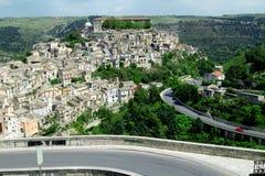 город Италия старый ragusa Стоковое Фото