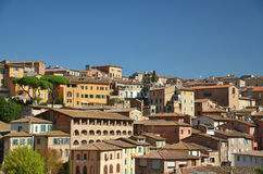 город Италия старый siena зданий разбивочный Стоковое Изображение RF