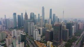 Город и смог Гуанчжоу Гуандун, Китай r акции видеоматериалы