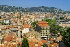 Город Канны, франция стоковое изображение
