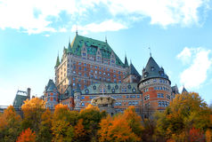 город Квебек замка Канады Стоковое Изображение RF
