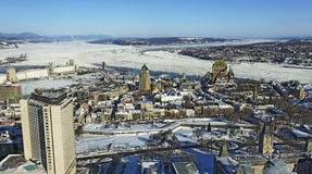 город Квебек солнечный Стоковые Изображения RF