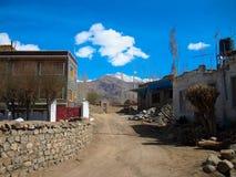 Город ландшафта ladakh Lah, Индии стоковые изображения