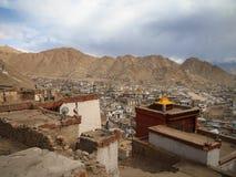 Город ландшафта ladakh Lah, Индии стоковая фотография rf