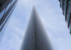 Город Лондона, современных стеклянных зданий, смотря вверх Стоковые Изображения RF
