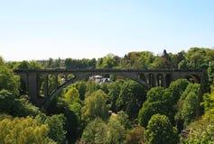 город Люксембург моста adolphe Стоковое Изображение RF