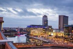 Город Манчестер Великобритания средств массовой информации стоковые фотографии rf