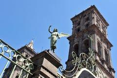 город Мексика puebla зданий стоковые изображения rf