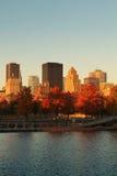 Город Монреаль в осени Стоковое Изображение